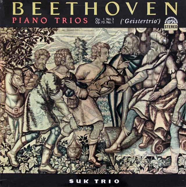 スーク・トリオのベートーヴェン/ピアノ三重奏曲第3&5番「幽霊」  チェコスロヴァキアSUPRAPHON 3146 LP レコード