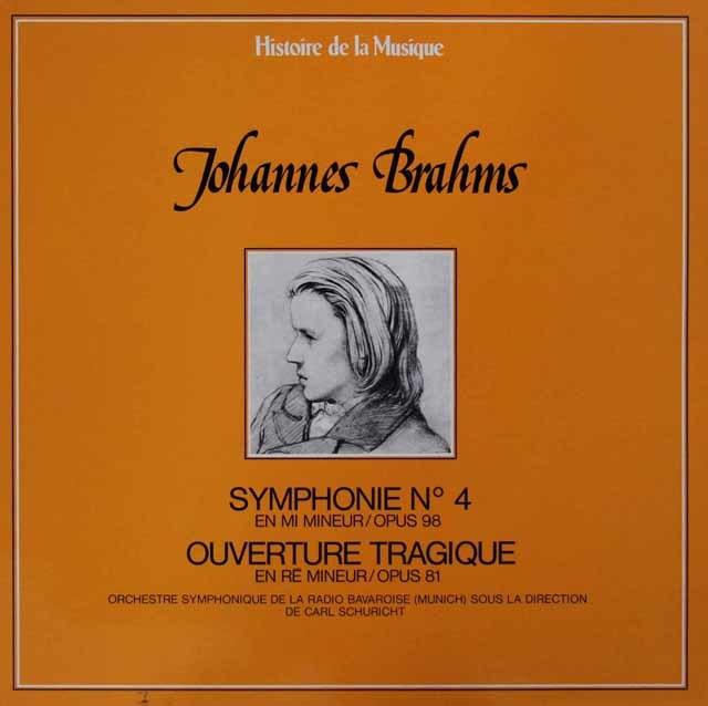 シューリヒトのブラームス/交響曲第4番&悲劇的序曲 仏Histoire de la Musique 3146 LP レコード