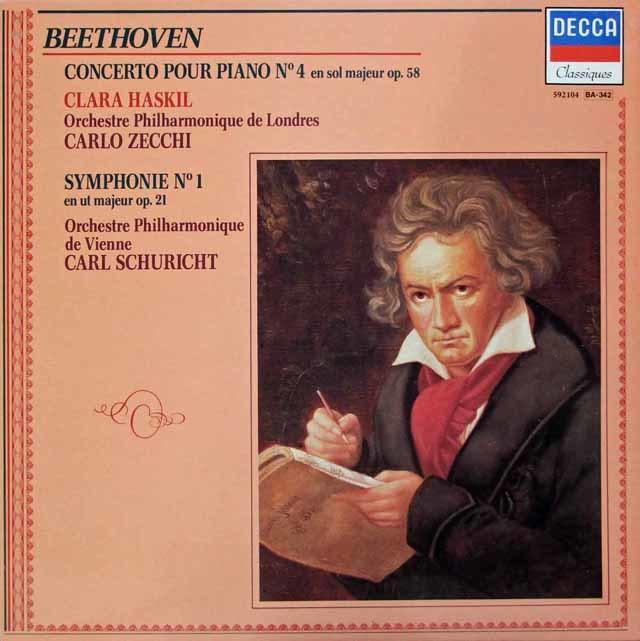 ハスキルのベートーヴェン/ピアノ協奏曲第4番ほか 仏DECCA 3146 LP レコード