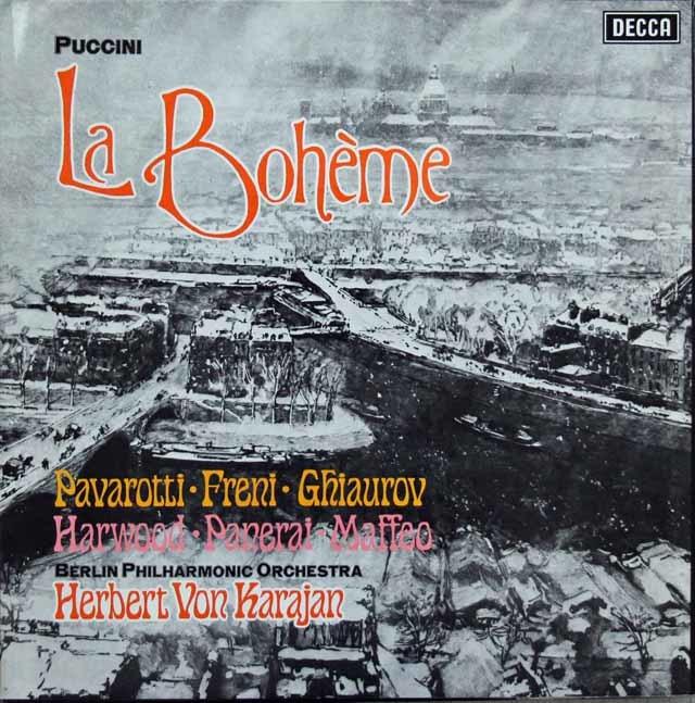 【オリジナル盤】 カラヤンのプッチーニ/「ラ・ボエーム」全曲 英DECCA 3146 LP レコード