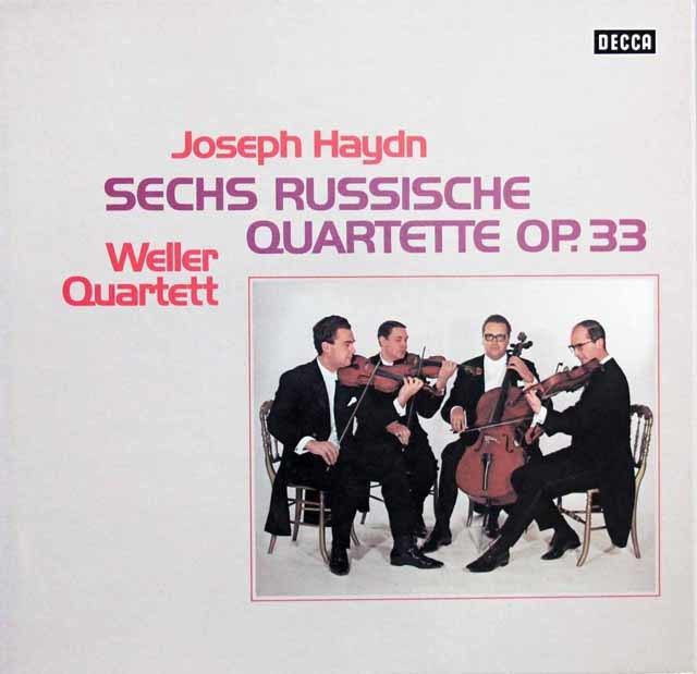 ウェラー四重奏団のハイドン/ロシア四重奏曲集 独DECCA 3146 LP レコード