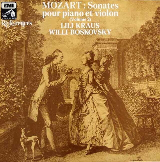 ボスコフスキー&リリー・クラウスのモーツァルト/ヴァイオリンソナタ集 第2巻 仏EMI(VSM) 3146 LP レコード