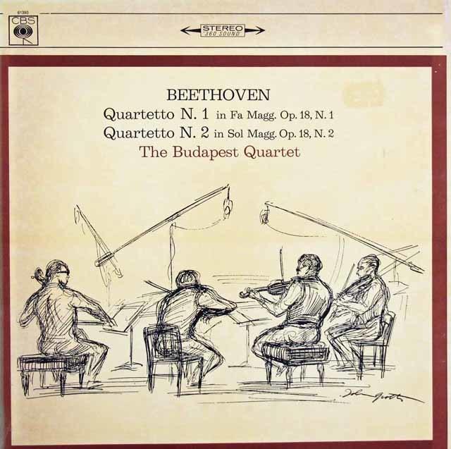 ブダペスト弦楽四重奏団のベートーヴェン/弦楽四重奏曲第1~6番 伊CBS 3147 LP レコード
