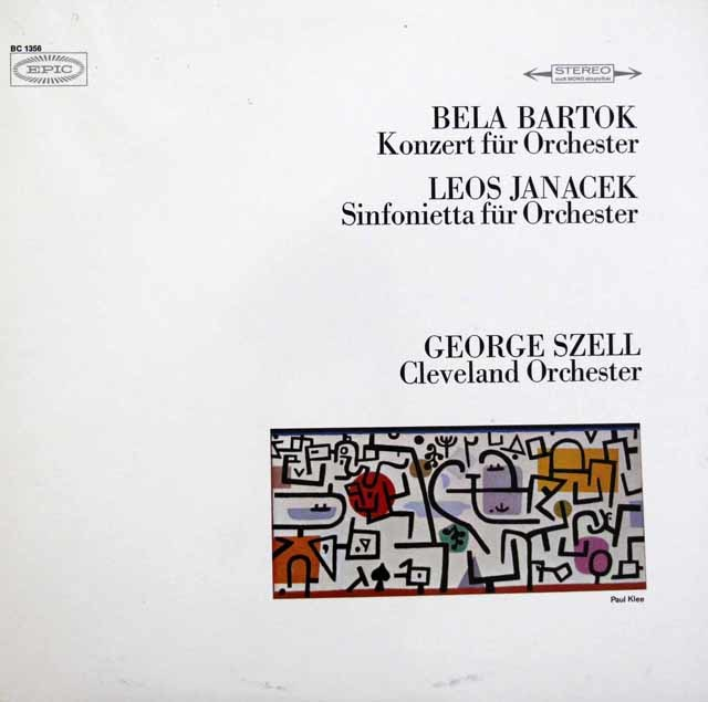 セルのバルトーク/管弦楽のための協奏曲ほか 独EPIC 3147 LP レコード