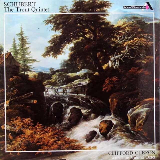 カーゾン & ウィーン八重奏団員のシューベルト/ピアノ五重奏曲「鱒」 英DECCA (Ace of Diamonds) 3147 LP レコード