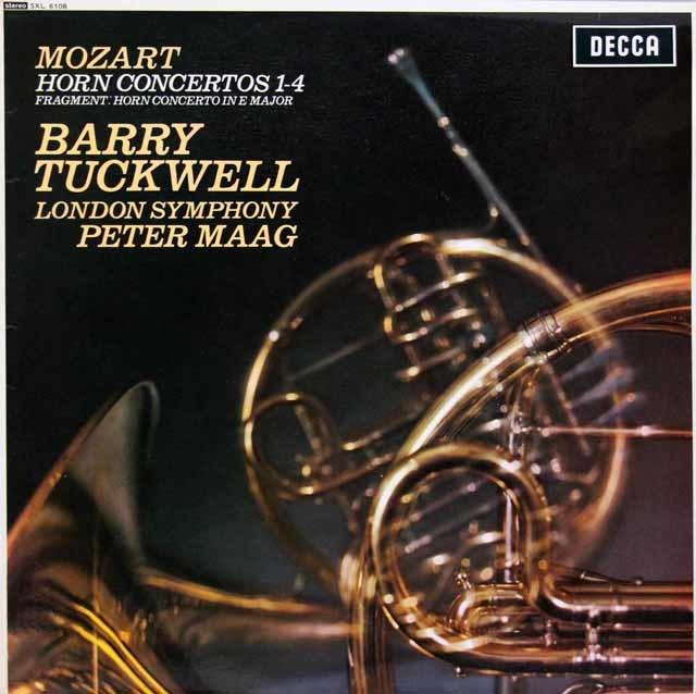 【オリジナル盤】タックウェル & マークのモーツァルト/ホルン協奏曲集 英DECCA 3147 LP レコード