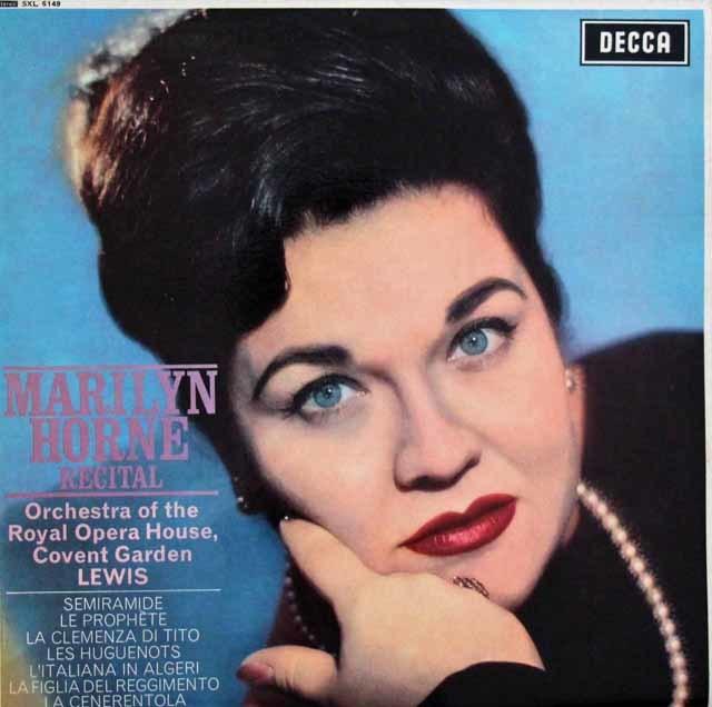 【オリジナル盤】マリリン・ホーン/リサイタル 英DECCA 3147 LP レコード