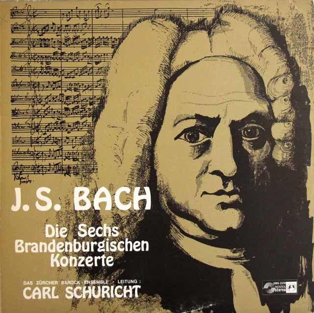 シューリヒトのバッハ/ブランデンブルク協奏曲全曲 独CH 3147 LP レコード