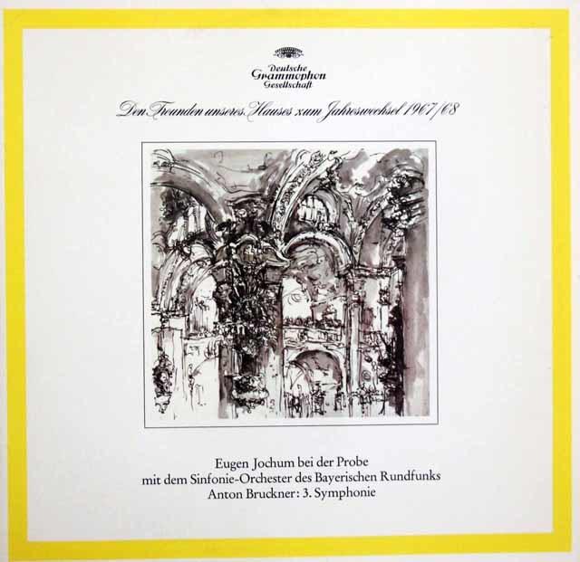 ヨッフムのブルックナー/交響曲第3番第2楽章(リハーサルと本番) 独DGG 3147 LP レコード