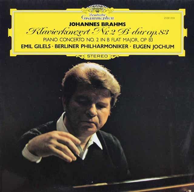 ギレリス & ヨッフムのブラームス/ピアノ協奏曲第2番 独DGG 3147 LP レコード