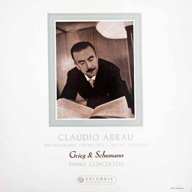 【オリジナル盤】アラウ & ガリエラのグリーグ & シューマン/ピアノ協奏曲 英Columbia 3147 LP レコード