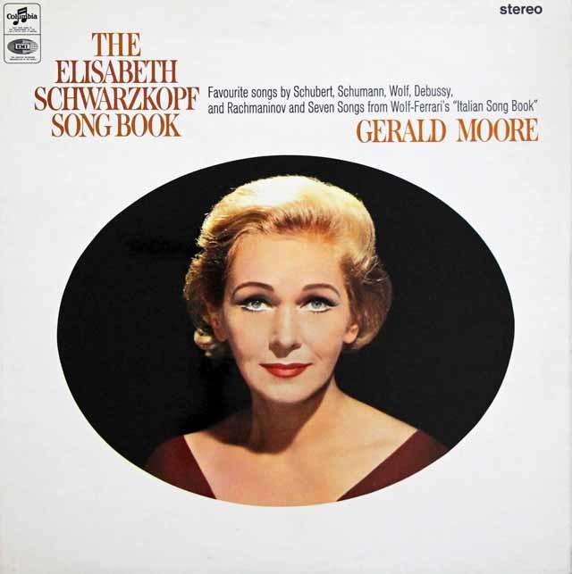 【オリジナル盤】シュヴァルツコップのシューベルト、シューマンほか/歌曲集 英Columbia 3147 LP レコード