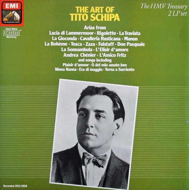 ティート・スキーパのオペラ・アリア集 英EMI 3147 LP レコード