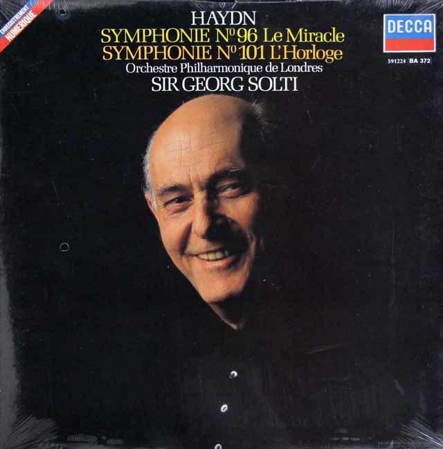 【未開封】 ショルティのハイドン/交響曲第96番「奇蹟」&第101番「時計」 仏DECCA 3147 LP レコード