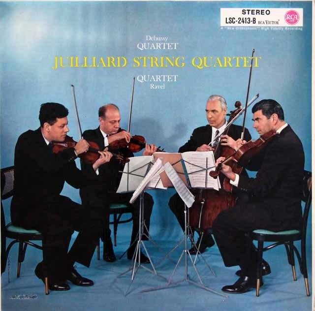 ジュリアード四重奏団のドビュッシー&ラヴェル/弦楽四重奏曲集 独RCA 3147 LP レコード