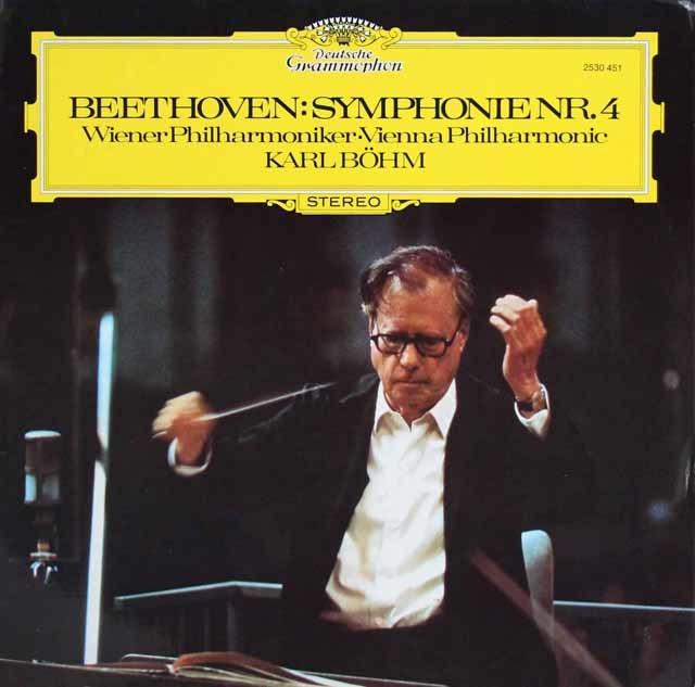 ベームのベートーヴェン/交響曲第4番 独DGG 3147 LP レコード