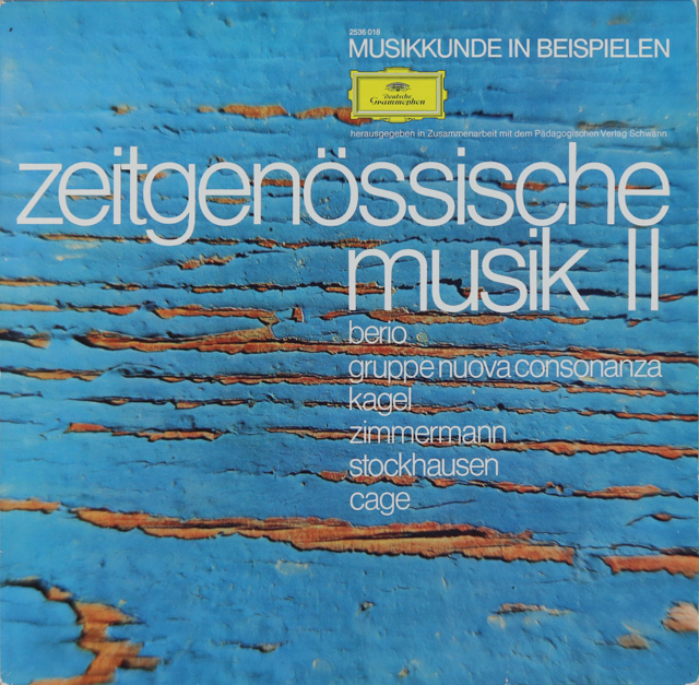 現代音楽作品集 第2集 独DGG 2899 LP レコード
