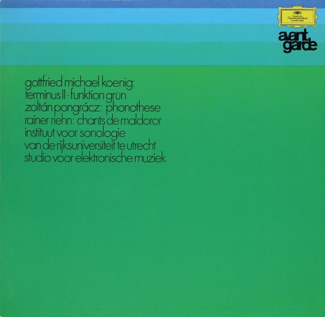 ケーニッヒ/電子音楽作品集 独DGG 2899 LP レコード