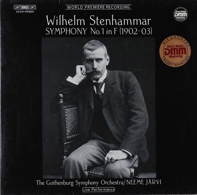 ヤルヴィのステーンハンマル/交響曲第1番 独BIS 2899 LP レコード