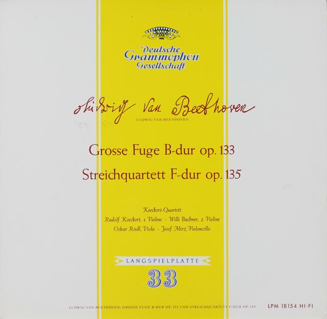 ケッケルト四重奏団のベートーヴェン/弦楽四重奏曲第16番&大フーガ 独DGG 2899 LP レコード