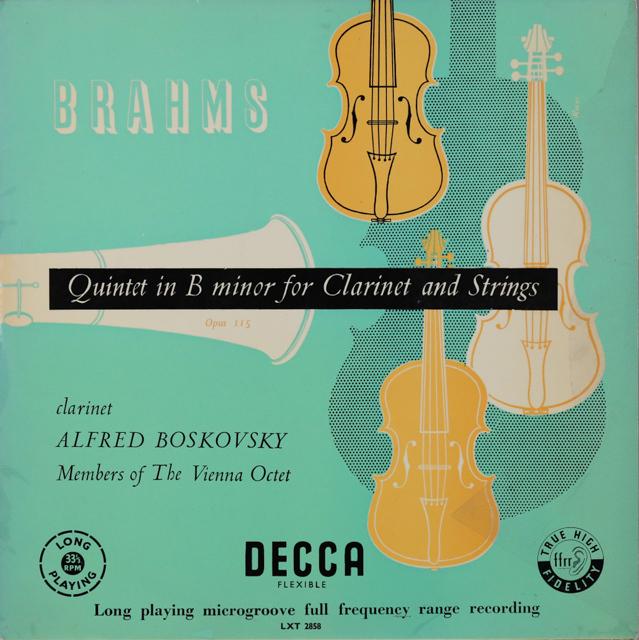 A.ボスコフスキー&ウィーン・オクテットのブラームス/クラリネット五重奏曲 英DECCA 2899 LP レコード