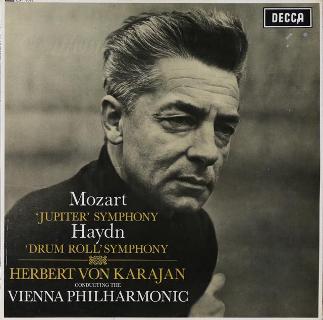 カラヤンのモーツァルト/交響曲第41番「ジュピター」ほか 英DECCA 2899 LP レコード