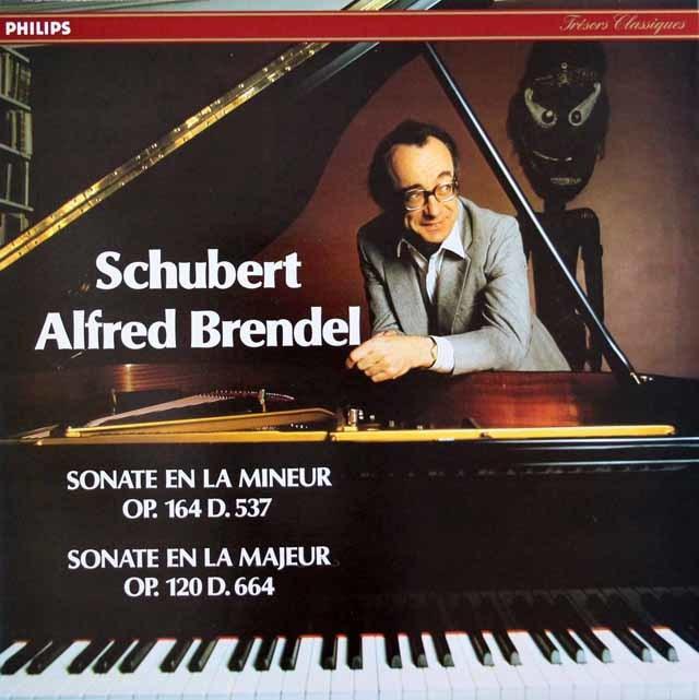 ブレンデルのシューベルト/ピアノソナタ第4&13番 仏PHILIPS 3201 LP レコード