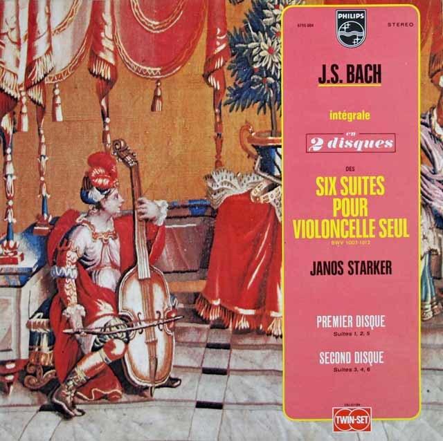 シュタルケルのバッハ/無伴奏チェロ組曲全曲 仏PHILIPS 3201 LP レコード