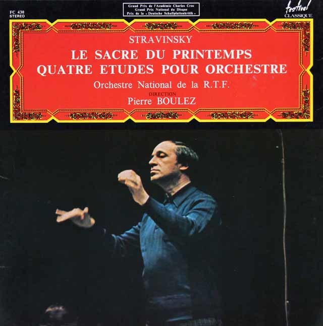 ブーレーズのストラヴィンスキー/「春の祭典」ほか 仏Festival Classic 3201 LP レコード