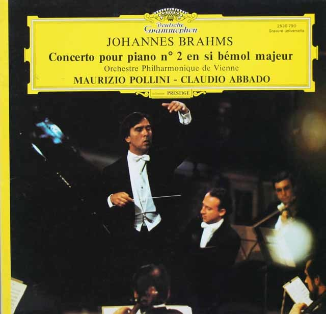 ポリーニ&アバドのブラームス/ピアノ協奏曲第2番 仏DGG 3201 LP レコード