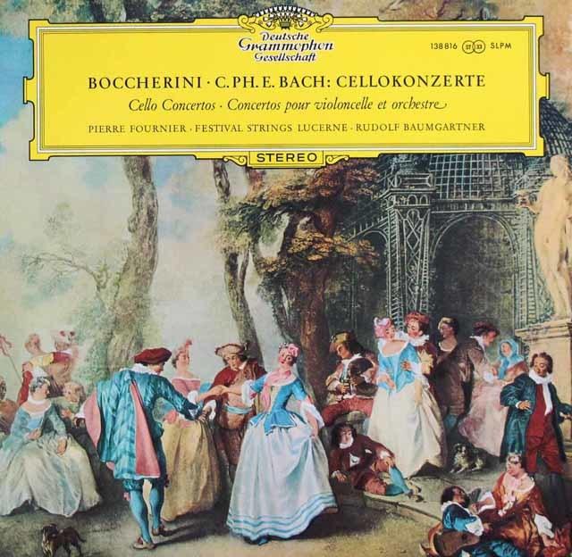 フルニエ&バウムガルトナーのボッケリーニ/チェロ協奏曲ほか 独DGG 3201 LP レコード