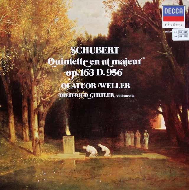ウェラー四重奏団のシューベルト/弦楽五重奏曲ハ長調ほか 仏DECCA 3201 LP レコード