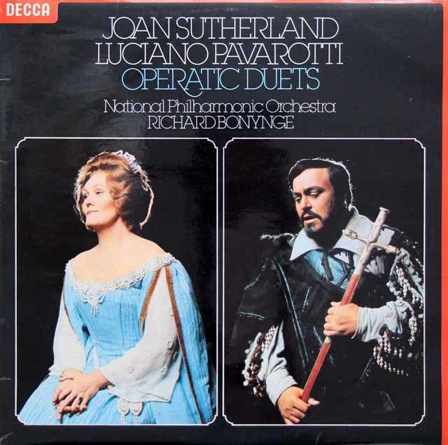 【オリジナル盤】サザーランド&パヴァロッティのオペラ・デュエット集 英DECCA 3201 LP レコード
