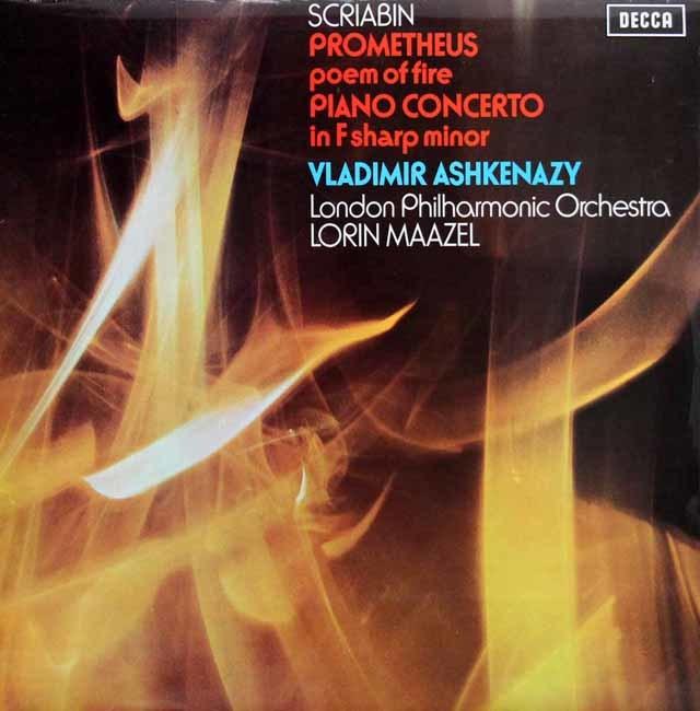 【オリジナル盤】 アシュケナージ&マゼールのスクリャービン/「プロメテウス」ほか 英DECCA 3201 LP レコード