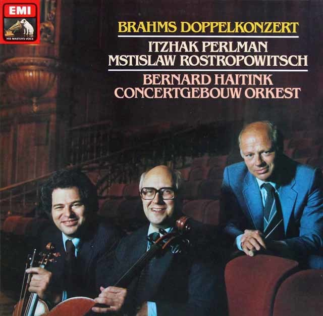 パールマン、ロストロポーヴィチ&ハイティンクのブラームス/二重協奏曲 独EMI 3201 LP レコード