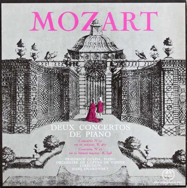 グルダのモーツァルト/ピアノ協奏曲第21&27番  仏Guilde du Disque  3201 LP レコード
