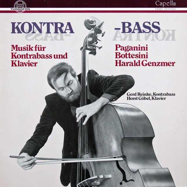 ラインケのパガニーニ&ボッテジーニら/コントラバスとピアノのための作品集  独THOROFON 3201 LP レコード