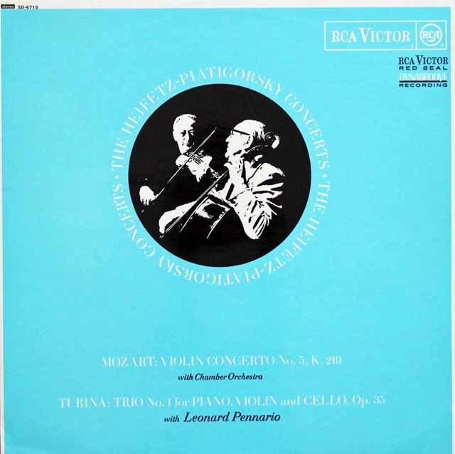 ハイフェッツのモーツァルト/ヴァイオリン協奏曲 第5番「トルコ風」ほか 英RCA 3201 LP レコード