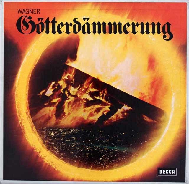 ショルティのワーグナー/「神々の黄昏」全曲 独DECCA 3201 LP レコード