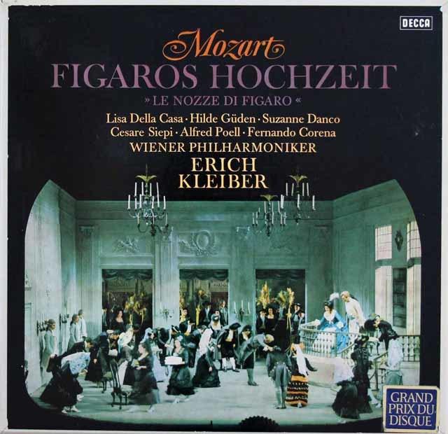 エーリヒ・クライバーのモーツァルト/「フィガロの結婚」全曲 独DECCA 3201 LP レコード