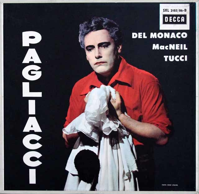 デル=モナコのレオンカヴァッロ/「道化師」 独DECCA 3201 LP レコード