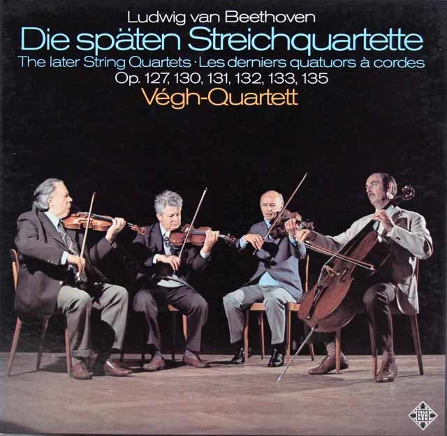 ヴェーグ四重奏団のベートーヴェン/後期弦楽四重奏曲集 独TELEFUNKEN 3201 LP レコード