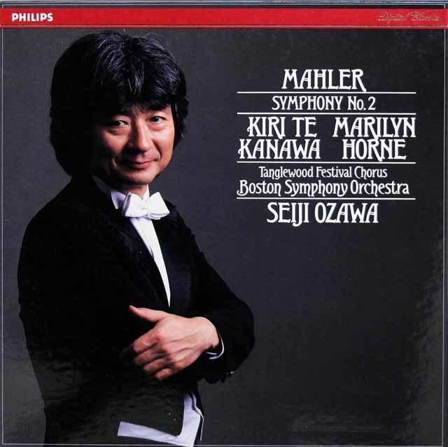 小澤のマーラー/交響曲第2番「復活」 蘭PHILIPS 3201 LP レコード