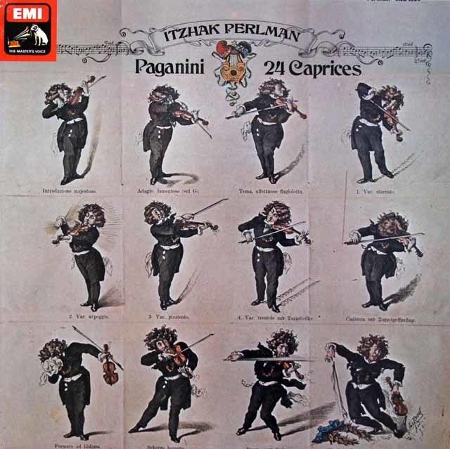 【オリジナル盤】 パールマンのパガニーニ/24の奇想曲  英EMI 3202 LP レコード