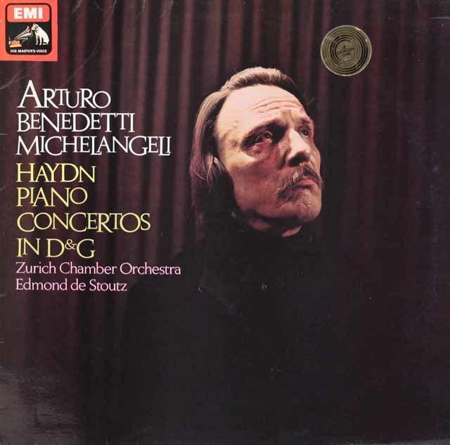 【オリジナル盤】 ミケランジェリのハイドン/ピアノ協奏曲集 英EMI 3202 LP レコード