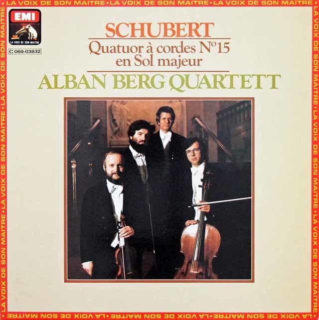 アルバン・ベルク四重奏団のシューベルト/弦楽四重奏曲第15番 仏EMI(VSM) 3202 LP レコード
