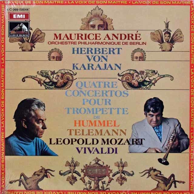 【未開封】 アンドレ&カラヤンの「トランペット協奏曲集」 仏EMI (VSM) 3202 LP レコード