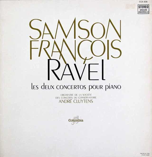 フランソワのラヴェル/ピアノ協奏曲集  仏Columbia    3202 LP レコード