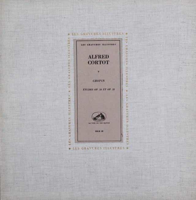 コルトーのショパン/練習曲集 仏EMI(VMS) 3202 LP レコード