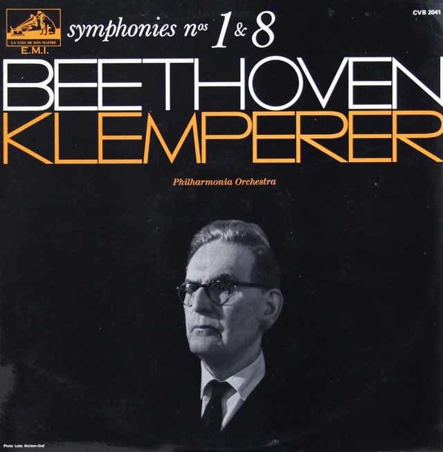 クレンペラーのベートーヴェン/交響曲第1番、第8番  仏EMI 3202 LP レコード